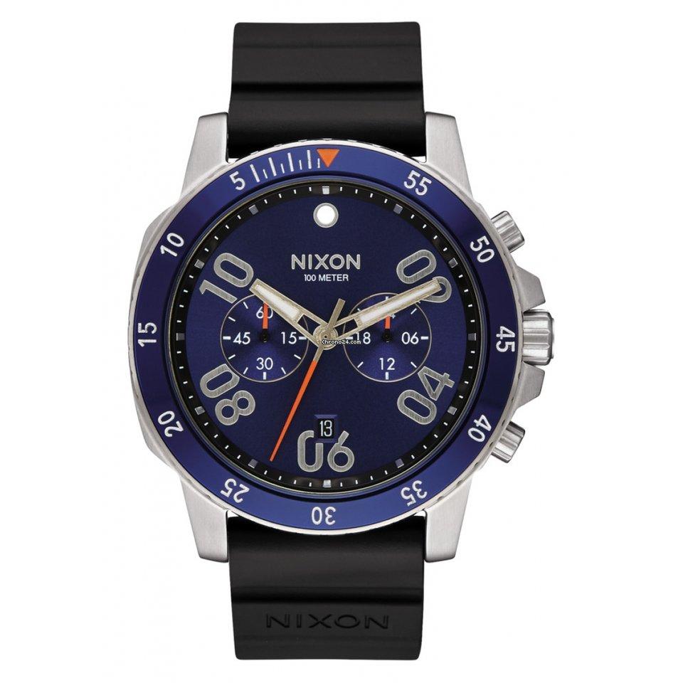Hombre Nixon Ranger Reloj Chrono Plateado luKTFJ1c3