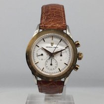 Universal Genève Compax new 1990 Manual winding Chronograph Watch with original box and original papers 384.445