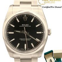 Rolex Oyster Perpetual 34 Steel 34mm Black United States of America, New York, Huntington Village