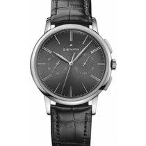 Zenith Elite Chronograph Classic Acier 42mm Noir Sans chiffres