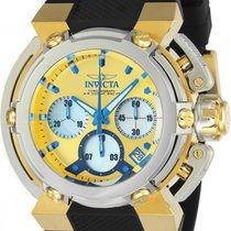 Invicta Steel Quartz Yellow No numerals 46mm pre-owned