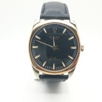 Rolex Cellini Danaos Gold/Steel 38mm Black No numerals