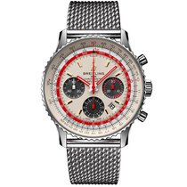 Breitling Steel 43mm Automatic AB01219A1G1A1 new