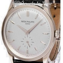 Patek Philippe White gold Manual winding Silver 37mm pre-owned Calatrava