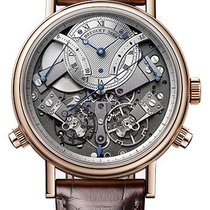 Breguet Rose gold Manual winding Silver 44mm new Tradition