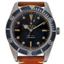 Rolex Submariner (No Date) Otel 37mm Negru Fara cifre