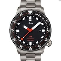Sinn U1 Steel 44mm Black No numerals