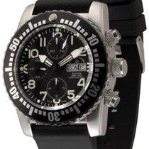 Zeno-Watch Basel Airplane Diver Steel 45mm Black Arabic numerals