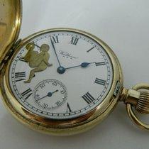 Waltham U.S.Ahunter case erotic automaton pocket watch - ca 1930
