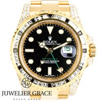 Rolex GMT-Master II 18K Black and Withe Diamond Aftermarket