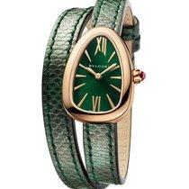 Bulgari Serpenti Rose Gold Green Dial 27mm Ladies Watch