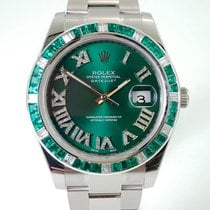 Rolex Datejust II Green Dream Baguette Lünette Green Diamond Dial
