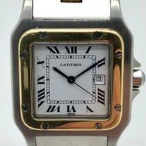 Cartier Santos (submodel) Золото/Cталь 29mm Белый Римские
