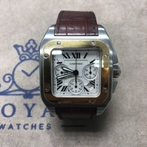 Cartier Santos 100 Gold/Steel 42mm Roman numerals UAE, Dubai