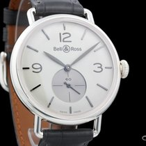 Bell & Ross Silver 41mm Manual winding BRWW1-ME-AG-OP-SCR new