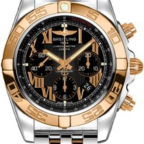 Breitling Chronomat 44 Gold/Steel 44mm Black Roman numerals