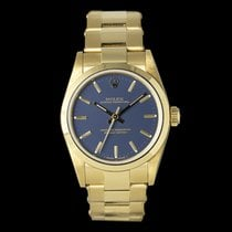 Rolex Oyster Perpetual Yellow gold 31mm Blue