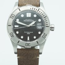 Michel Herbelin Newport Trophy Staal 42mm Zwart