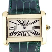 Cartier Rose gold Automatic White 38mm pre-owned Tank Divan