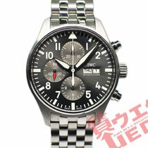 IWC Pilot Spitfire Chronograph Steel 43mm Grey
