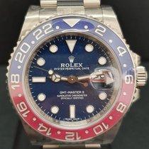 Rolex GMT-Master II Witgoud 40mm Blauw Geen cijfers