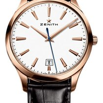 Zenith Captain Central Second Oro rosado 40mm Blanco