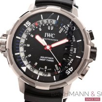 IWC Aquatimer Deep Three Steel 46mm Black No numerals