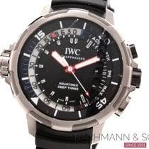IWC Aquatimer Deep Three Сталь 46mm Чёрный Без цифр