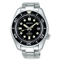Seiko Marinemaster Steel 44.3mm Black No numerals