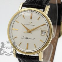 Eterna Centenaire pre-owned 35mm Silver Leather