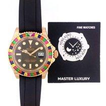 Rolex Yacht-Master 40 Pозовое золото 40mm Чёрный Без цифр