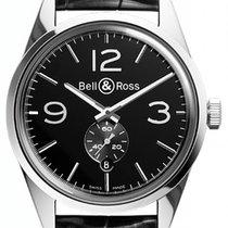Bell & Ross Vintage BRG123-BL-ST/SCR new