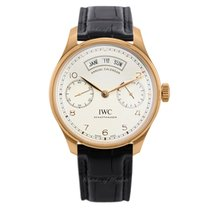 IWC Rose gold Automatic Silver 44,2mm new Portuguese Annual Calendar