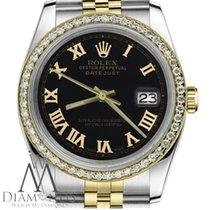 Rolex Lady-Datejust Or/Acier 26mm Noir Romains