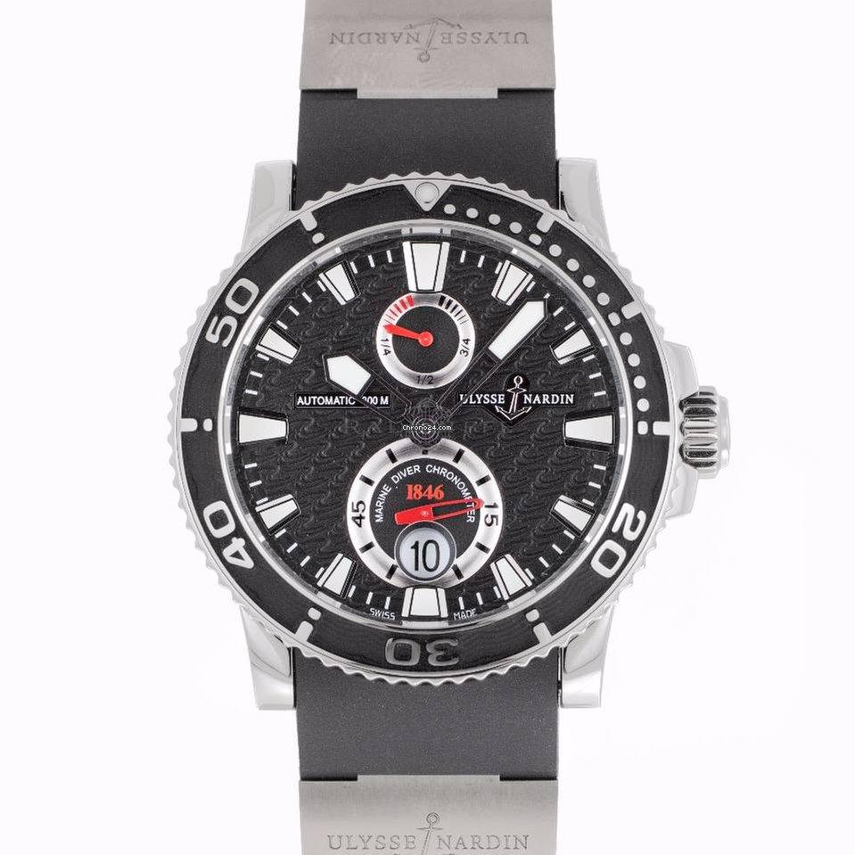 Часы ulysse nardin marine diver chronograph steel 50008
