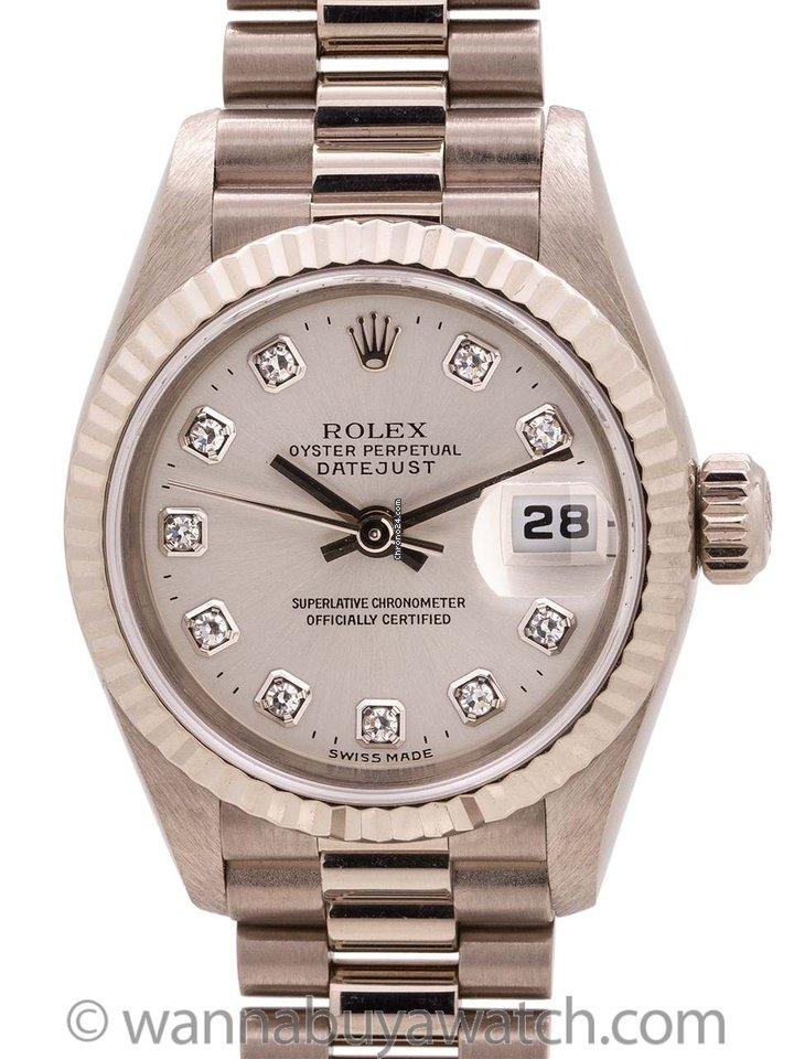 3c6a75c6a8e Rolex Lady-Datejust White gold - all prices for Rolex Lady-Datejust White  gold watches on Chrono24