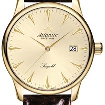 Atlantic Yellow gold 38mm Quartz 95743.65.31 new