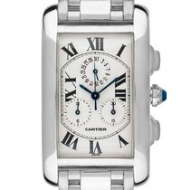 Cartier W2603356 White gold Tank Américaine 45mm pre-owned