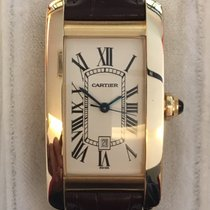 Cartier Tank Américaine Yellow gold 22mm White Roman numerals