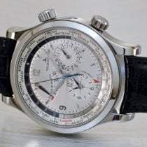 Jaeger-LeCoultre Master World Geographic Acero 41,5mm Plata Árabes