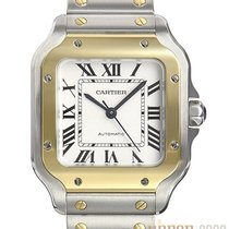 Cartier new Automatic Central seconds Tempered blue hands 35,1mm Gold/Steel Sapphire crystal