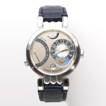 Harry Winston Premier pre-owned 39mm White Crocodile skin