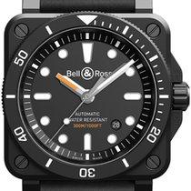 Bell & Ross BR 03-92 Ceramic neu 2020 Automatik Uhr mit Original-Box und Original-Papieren BR0392-D-BL-CE/SRB