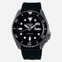 Seiko 5 Sports Steel 42,5mm Black Arabic numerals