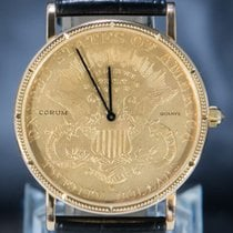 Corum Geelgoud 36mm Quartz Coin Watch 1877 tweedehands Nederland, 'S-Hertogenbosch