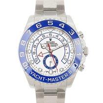 Rolex Yacht-Master II Staal 44mm Blauw Geen cijfers