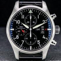 IWC Pilot Chronograph Сталь 43mm Чёрный Aрабские