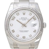 Rolex Oyster Perpetual Date Acier 34mm Blanc Arabes
