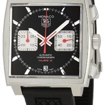TAG Heuer Men's CAW2114FT6021 Monaco Black Dial Watch