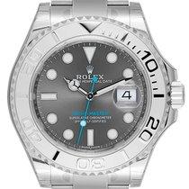 Rolex Yacht-Master 40 Steel and Platinum Dark Rhodium Dial 116622